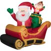 Gemmy Industries Airblown Inflatables Santa with Sleigh