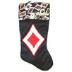 Santa's Best Satin Deck of Cards Diamonds Casino Gambling Christmas Stocking
