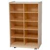 Wood Designs Vertical Storage Unit 10 Compartment Cubby