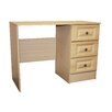 DD Furniture Calcutta 3 Drawer Single Pedestal Dressing Table