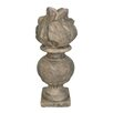 Terracotta Le Flame Statue - White x White Garden Statues and Outdoor Accents
