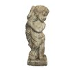 Child with Garland Statue - White x White Garden Statues and Outdoor Accents