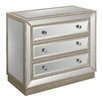Coast to Coast Imports LLC Mirrored 3 Drawer Chest