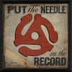 The Artwork Factory Put the Needle on the Record Framed Vintage Advertisement in Red and Black