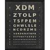 The Artwork Factory Eye Chart XDM Framed Textual Art