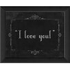 The Artwork Factory Silent Movie I Love You Framed Textual Art