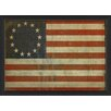 The Artwork Factory Betsy Ross Flag III Framed Graphic Art