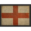 The Artwork Factory English Flag III Framed Graphic Art