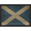 The Artwork Factory Scottish Flag III Framed Graphic Art