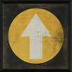 The Artwork Factory Arrow in Circle Framed Graphic Art