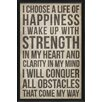 The Artwork Factory A Life of Happiness Affirmation Framed Textual Art in Black
