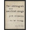 The Artwork Factory The Sweetest Songs Typewriter Quote Framed Textual Art