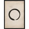The Artwork Factory Japanese Enso Framed Graphic Art in Black