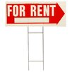 """Hy-Ko 10"""" x 24"""" For Rent Sign"""