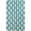 Tommy Bahama Home Atrium Geometric Odgee Blue/Ivory Indoor/Outdoor Area Rug
