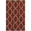 Tommy Bahama Home Atrium Lattice Quatrefoil Red Indoor/Outdoor Area Rug