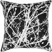 India's Heritage Print Splatter Silk Throw Pillow