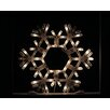 Sienna Lighting Shimmering Snowflake Folding Christmas Window Silhouette