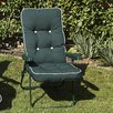 Swift Garden Furniture Milan Boxed and Piped Reclining Arm Chair with Cushions