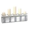 Pharmore Ltd Kerzenleuchter Rhombus Glass aus Glas und Metall