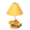 "Room Magic Boys Like Trucks 18"" H Table Lamp with Empire Shade"