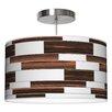 Jef Designs Tile 3 Drum Pendant