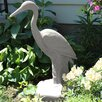 Great Heron Statue - Color: Granite - EMSCO Group Garden Statues and Outdoor Accents
