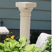 Greek Column Pedestal - Color: Sandstone - EMSCO Group Garden Statues and Outdoor Accents