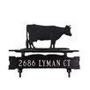 Montague Metal Products Inc. One Line Lawn Address Sign with Cow