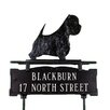 Montague Metal Products Inc. Two Line Lawn Address Sign with West Highland White Terrier