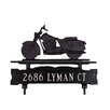 Montague Metal Products Inc. One Line Lawn Address Sign with Motorcycle