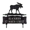 Montague Metal Products Inc. Two Line Lawn Address Sign with Moose