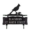 Montague Metal Products Inc. Two Line Lawn Address Sign with Cardinal