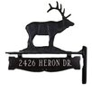 Montague Metal Products Inc. One Line Post Address Sign with Elk