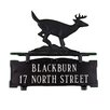 Montague Metal Products Inc. Two Line Mailbox Address Sign with Buck