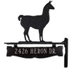 Montague Metal Products Inc. One Line Post Llama Address Sign