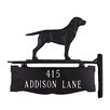 Montague Metal Products Inc. Two Line Post Address Sign with Retriever