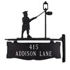 Montague Metal Products Inc. Two Line Post Address Sign with Lamplighter
