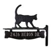 Montague Metal Products Inc. One Line Post Address Sign with Cat