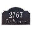 Montague Metal Products Inc. Vanderbilt Standard Address Plaque