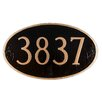 Montague Metal Products Inc. Oval Standard Address Plaque