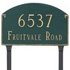 Montague Metal Products Inc. Georgetown Standard Two Line Address Plaque