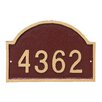 Montague Metal Products Inc. Dover Arch One Line Petite Address Sign Plaque