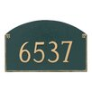 Montague Metal Products Inc. Georgetown Estate One Line Address Plaque