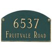 Montague Metal Products Inc. Georgetown 2 Line Address Plaque