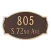 Montague Metal Products Inc. Cambridge Estate Two Line Address Plaque