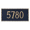 Montague Metal Products Inc. Lincoln Rectangle One Line Address Plaque