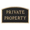Montague Metal Products Inc. Arch Private Property Statement Address Plaque