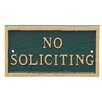 No Soliciting Statement Plaque - Color: Hunter Green/Gold - Montague Metal Products Garden Statues and Outdoor Accents