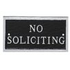 No Soliciting Statement Plaque - Color: Black/Silver - Montague Metal Products Garden Statues and Outdoor Accents
